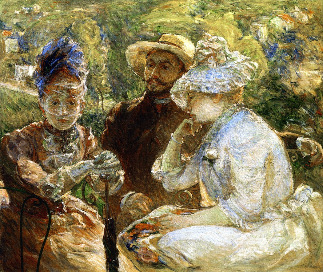 On the terrace at Sevres, 1880